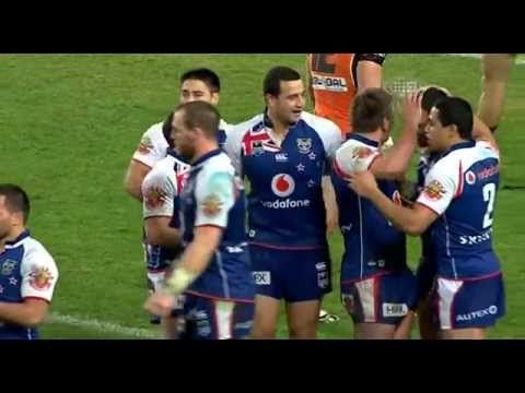 Krisnan Inu scores the winning try (Wests Tigers v. New Zealand Warriors...