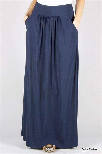 22 blue maxi skirt