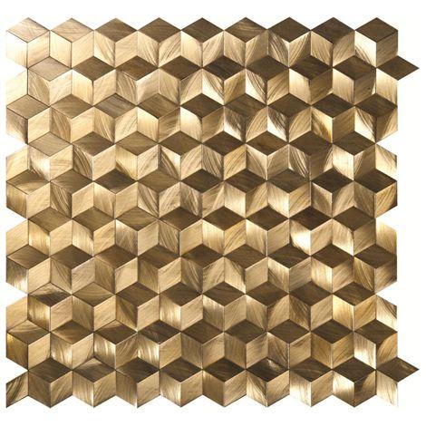 Stellar aluminium mosaics by Original Style in glowing gold.