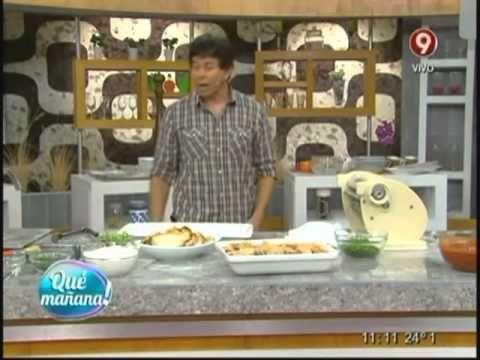 Hoy cocinamos: Escabeche de pollo y ravioles de espinaca y arroz - YouTube