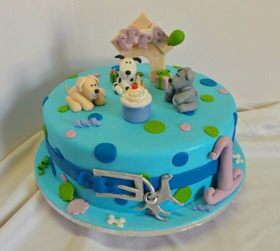 Dog Design Cake Recipes : Dog themed birthday cake. Design brought in by client by ...