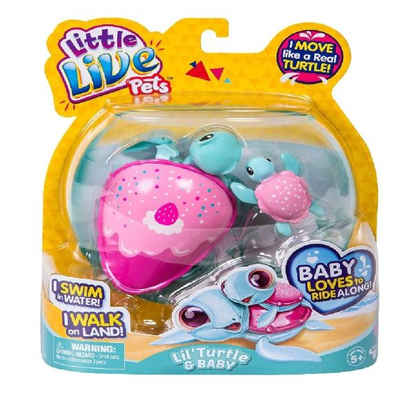 Little Live Pets Turtle Little Live Pets Pet Turtle Baby Girl Toys
