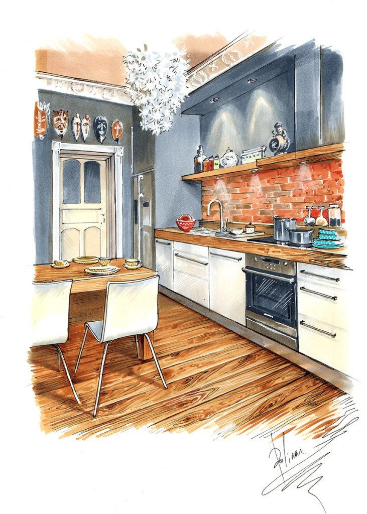 The 25+ best Interior design sketches ideas on Pinterest Interior design drawing, Interior - Interior Design Drawing Techniques OnlineDesignTeacher