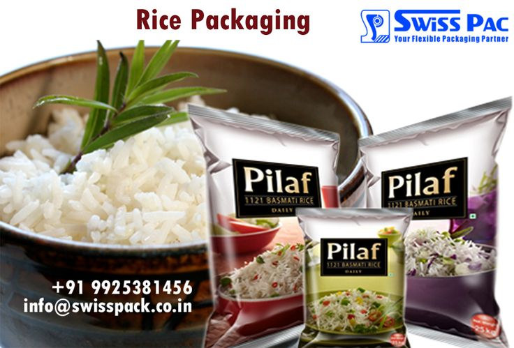 We excellent quality offer #RicePackaging, which have high barrier lamination that safeguards the texture, taste and freshness of the products. To inquire more visit at http://www.swisspack.co.in/rice-packaging/