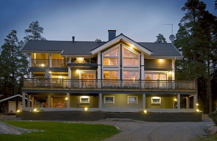 Gerbera log house