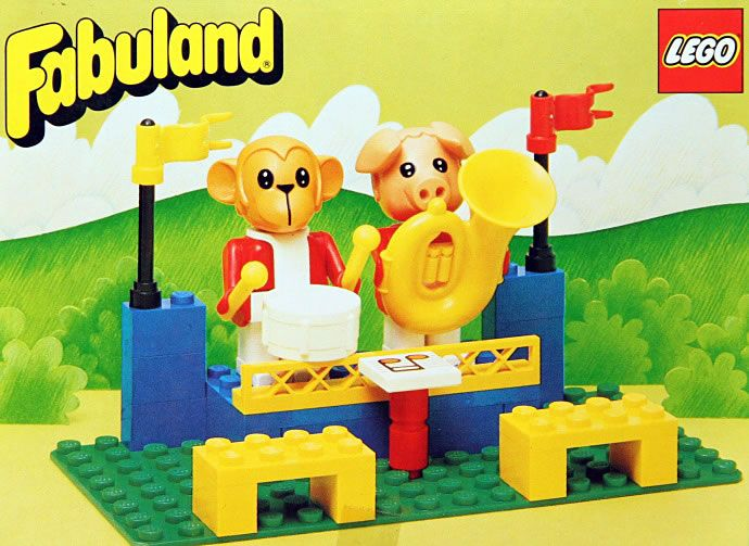 3631: The Fabuland Big Band Peter Pig and Gabriel Gorilla  Fabuland, 1985