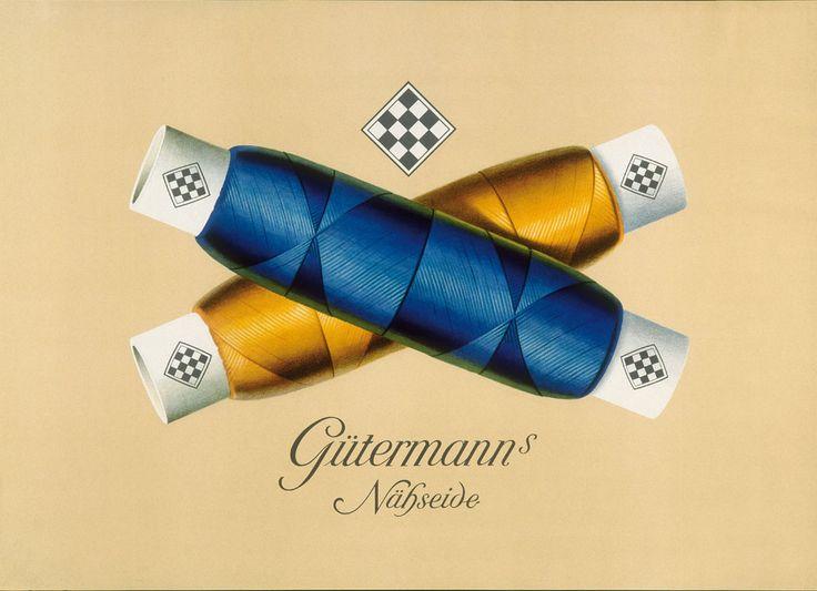 Fil de couture Gütermann's - 1950 -