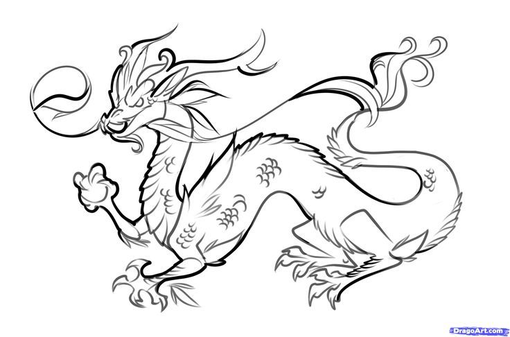 How To Draw Easy Dragons Step By Step To Draw A Chinese