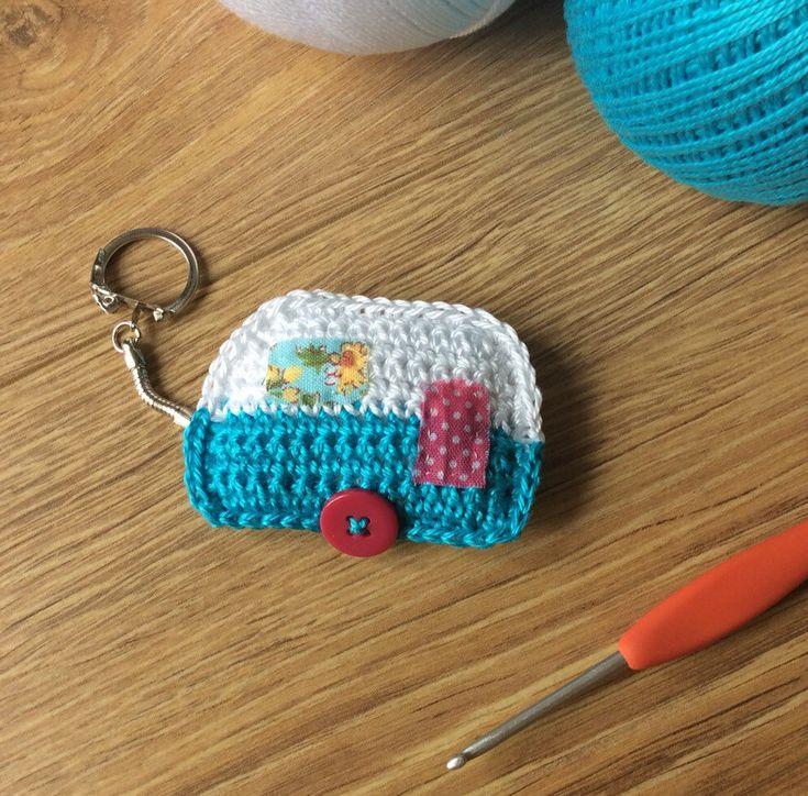 Crochet Caravan Keyring ༺✿ƬⱤღ✿༻