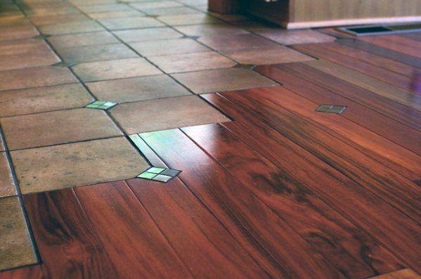 Top 70 Best Tile To Wood Floor Transition Ideas Flooring Designs Patterned Floor Tiles Tile To Wood Transition Flooring