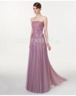 Sans bretelle robe de soirée mariage 2015 dentelle fleur