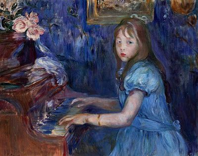 TICMUSart: Lucie Leon at the Piano - Berthe Morisot (1892) (I. M.)