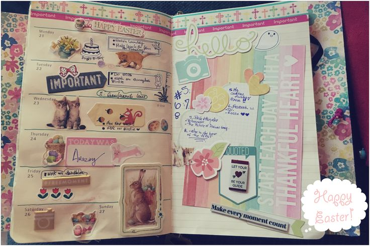 Week 12. Easter week and I keep using the pink tones.   #bunnydori #planning #easterweek #easter