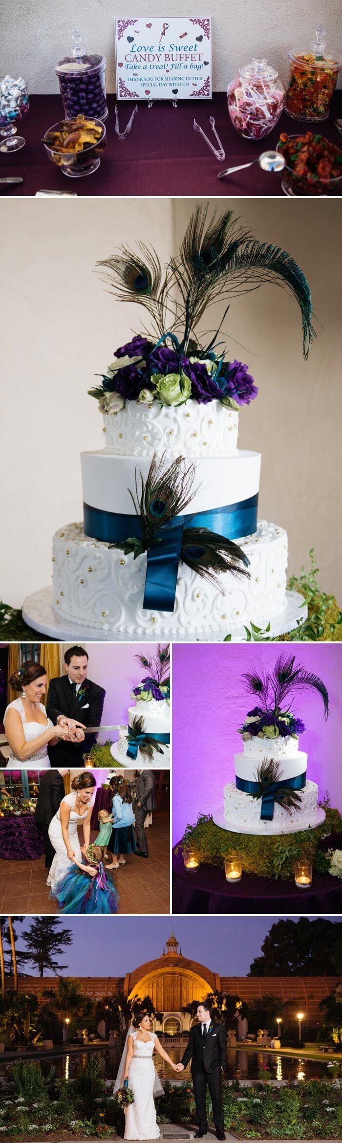 Mhhh.... Die Pfauenfeder-Hochzeitstorte sieht wirklich atemberaubend aus - Perfekt für eine einzigartige Mottohochzeit mit dem Thema Pfau ... I © Derek Chad Photography
