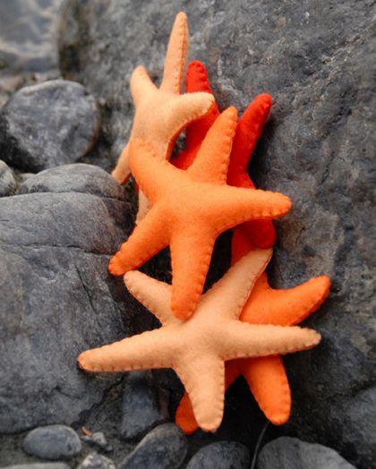 Felt starfish craft