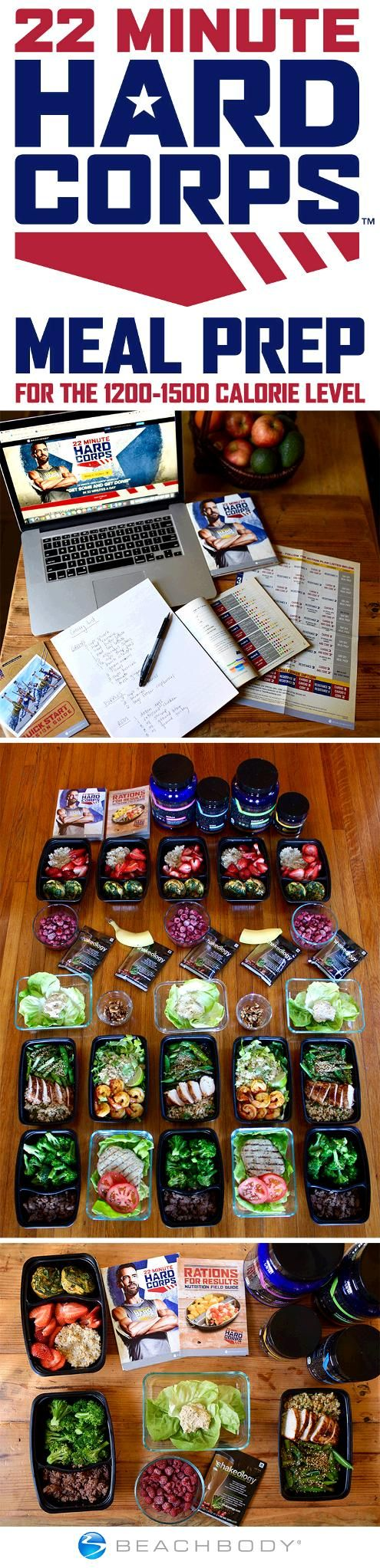 Now that you've committed to building a Boot Camp Body with 22 Minute Hard Corps, use this meal prep plan to set yourself up for a week of healthy eating! // beachbody // beachbody blog