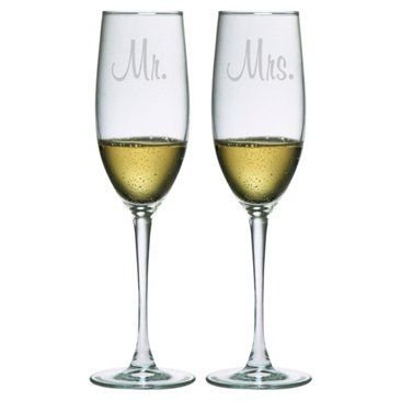 Check out this item at One Kings Lane! Mr & Mrs Flutes