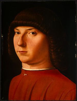 Portrait of a Young Man - Antonello da Messina.  c.1475/1480.  Oil and tempera on panel.  33 x 24.8 cm.  National Gallery of Art, Washington DC, USA.
