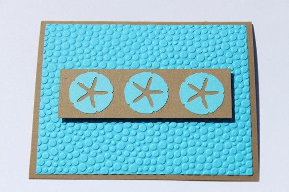 Blank Beach Cards Sand dollar Starfish by RoyalRegards on Etsy