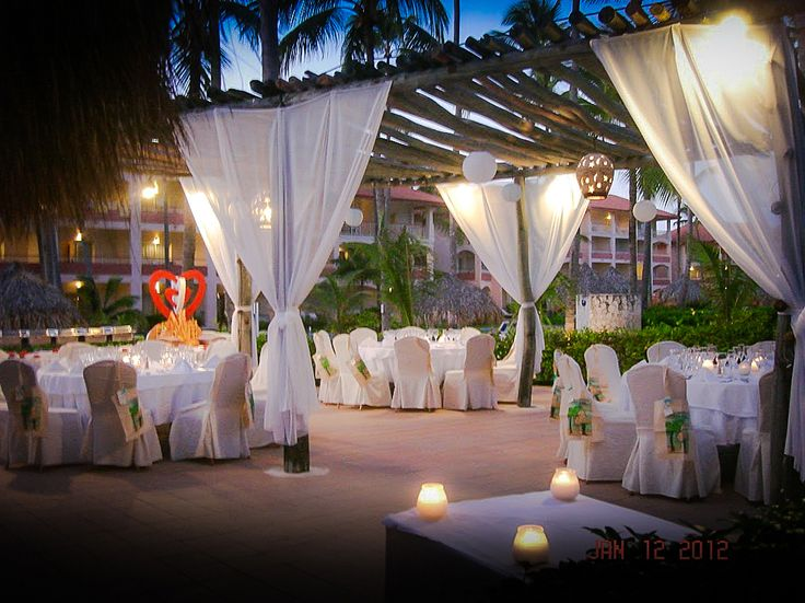Parrot Bar wedding reception at Majestic Colonial, Punta Cana | Destination Weddings