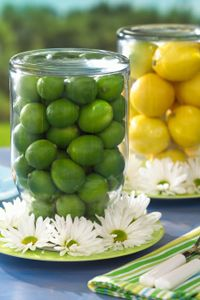 lemons and limes at the table