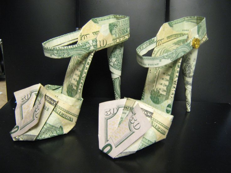NAPA Balkamp has a tradition (started out as a Money Tree) of collecting money from workmates as a farewell gift to a retiring employee This one was made for Carol Cline's retireement party. She were highheels for 40 yrs that she worked at Balkamp.