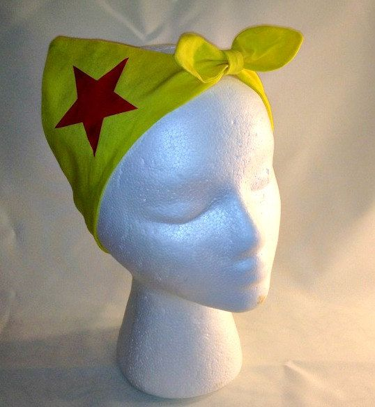 Hey, I found this really awesome Etsy listing at https://www.etsy.com/listing/203407515/wonder-woman-bombshell-bandanna-headband