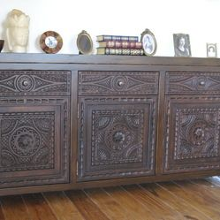 DINING ROOM: Spanish Colonial sideboard