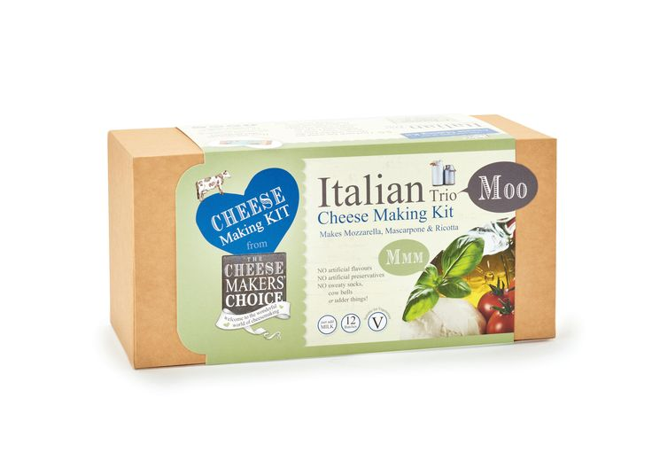 Italian Trio Cheese Making Kit. Make your own mozzarella, mascarpone & ricotta :)