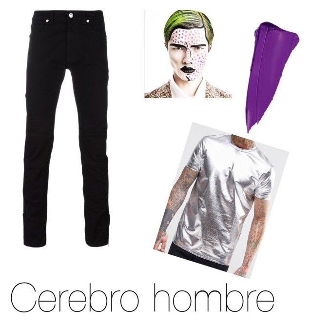 """Cerebro de hombre"" by fsh-style on Polyvore featuring Versace, Charlotte Russe, men's fashion y menswear"