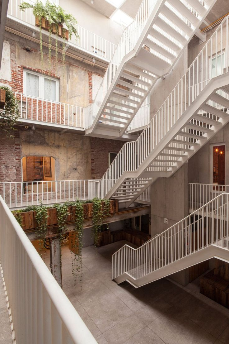 Balcony design ideas in apartment grenoble france home design and - Cadaval Sola Morales Has Converted A Derelict Block In Mexico City S La Roma Neighbourhood Into Apartments Offices And Shops Set Around A Courtyard