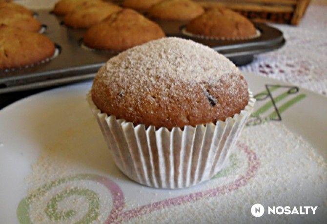 Narancsos-csokis-diós muffin