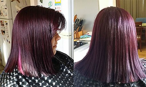 Intensified Voilet with pink foils, hairserenity