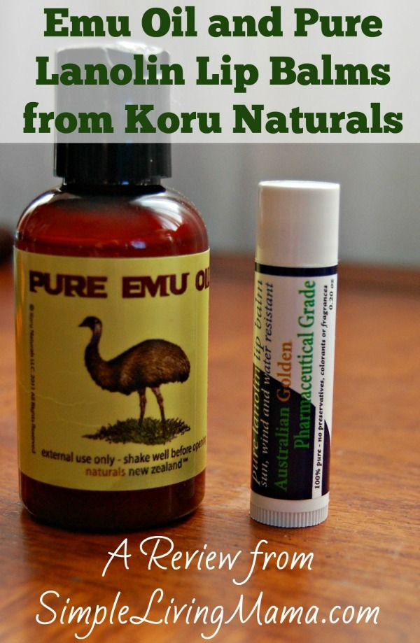 Emu Oil and Lip Balm from Koru Naturals - Review - Simple Living Mama