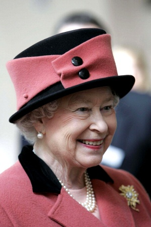 Queen Elizabeth. Another great hat.