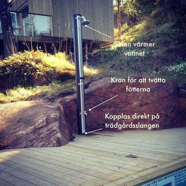 #Utedusch från Smarthem #smarthembilden #inorrköping #trädgård #pool by smarthem_se