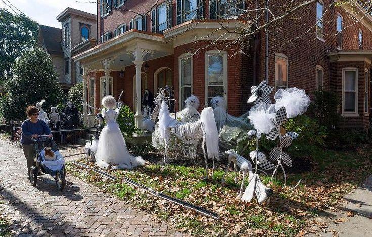 25 spaventosi Outdoor Decorazioni di Halloween Idee