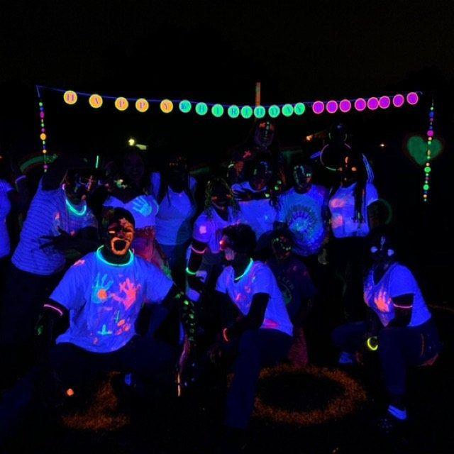 Glow Party Neon Garlands Retro 80s Decor Black Light Party Etsy Neon Dance Party Glow Party Decorations Glow In Dark Party