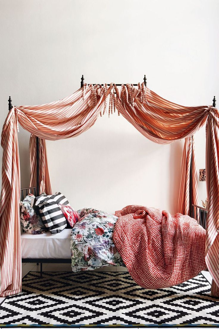 Bed Canopy No Nails : Best bed curtains ideas on with