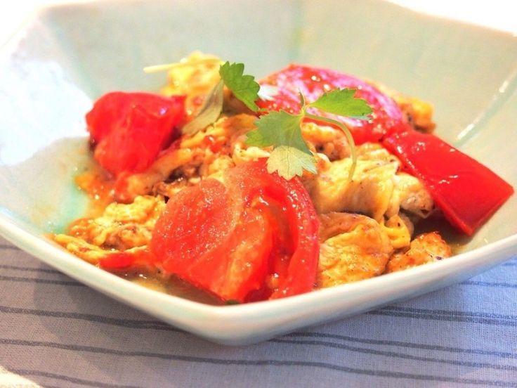 トマトと卵の中華風炒めもの by マキアオンライン [クックパッド] 簡単おいしいみんなのレシピが225万品