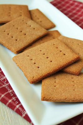 Graham-Style Crackers (Low-Fructose & Gluten-Free) | Delicious as it Looks