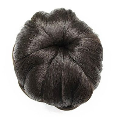 Synthetic Brown Curly Hairpiece Bun