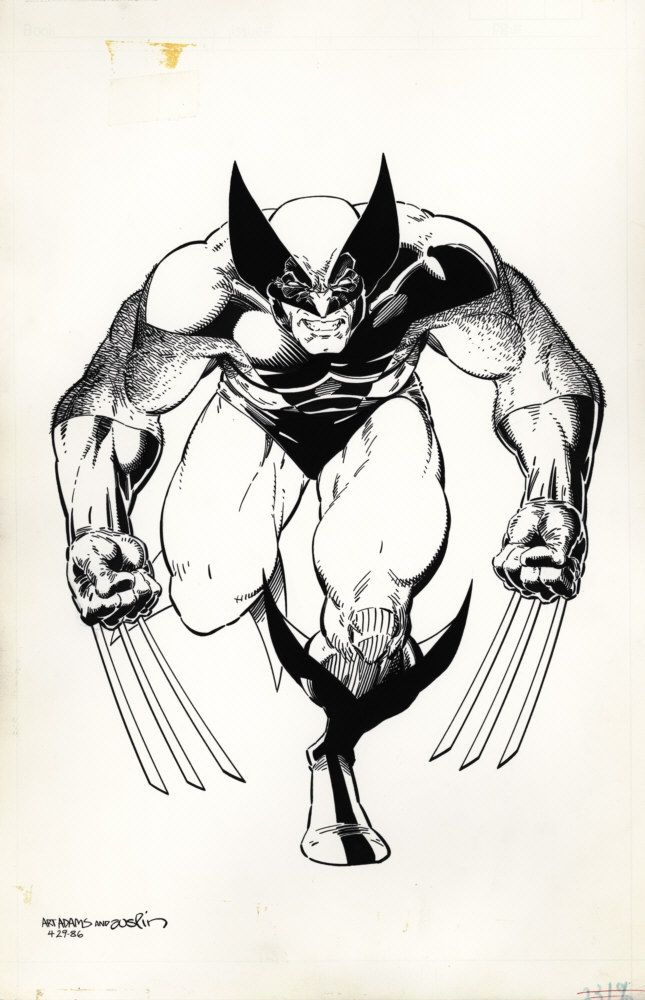 Wolverine by Arthur Adams. Probably the most iconic drawing of wolverine!