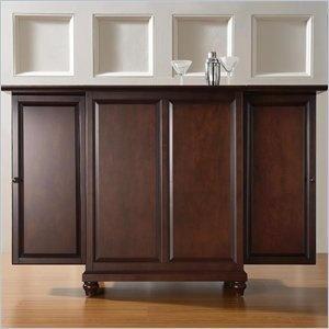 amazoncom crosley furniture cambridge expandable bar cabinet in vintage mahogany finish furniture