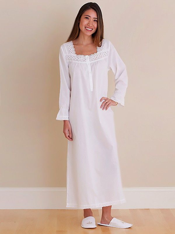d7357231b5c Susan White Cotton Nightgown, Embroidered** | اطفال in 2019 | Cotton ...