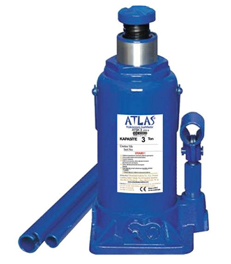 Atlas hidrolik şişe kriko profesyonel kullanım için ideal krikoldur. ATŞK 3 model hidrolik şişe kriko 3 ton kaldırma kapasitelidir. #atlas #kriko #bottlejack #hidrolik #hydraulic #lifter #car #vehicle  http://www.ozkardeslermakina.com/urun/hidrolik-sise-kriko-atlas-atsk-3-ton/