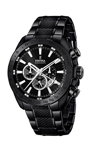 Festina Herren-Armbanduhr Black and Blue Analog Quarz Edelstahl beschichtet F16889/1 - http://uhr.haus/festina/festina-herren-armbanduhr-black-and-blue-analog-1