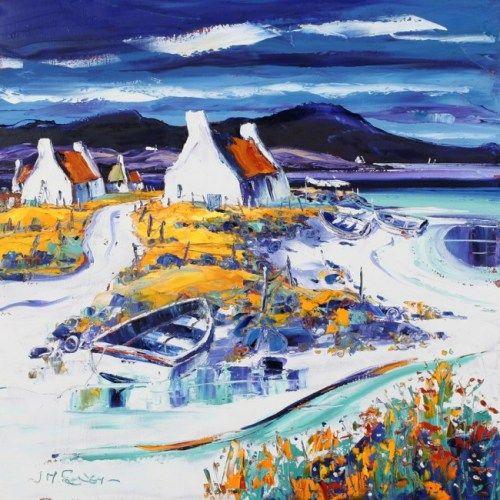 Boats on the Shore, Lewis ~ Scottish artist Jean Feeney