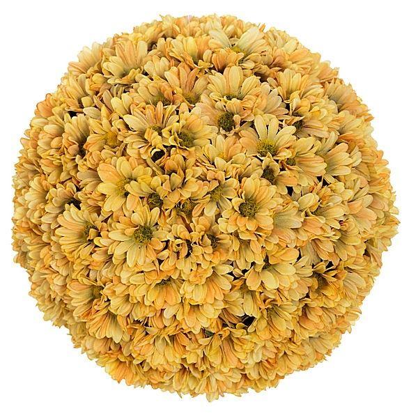Bola flores margaritas artificiales naranjas 19 http://www.lallimona.com/online/arreglos-florales-artificiales/