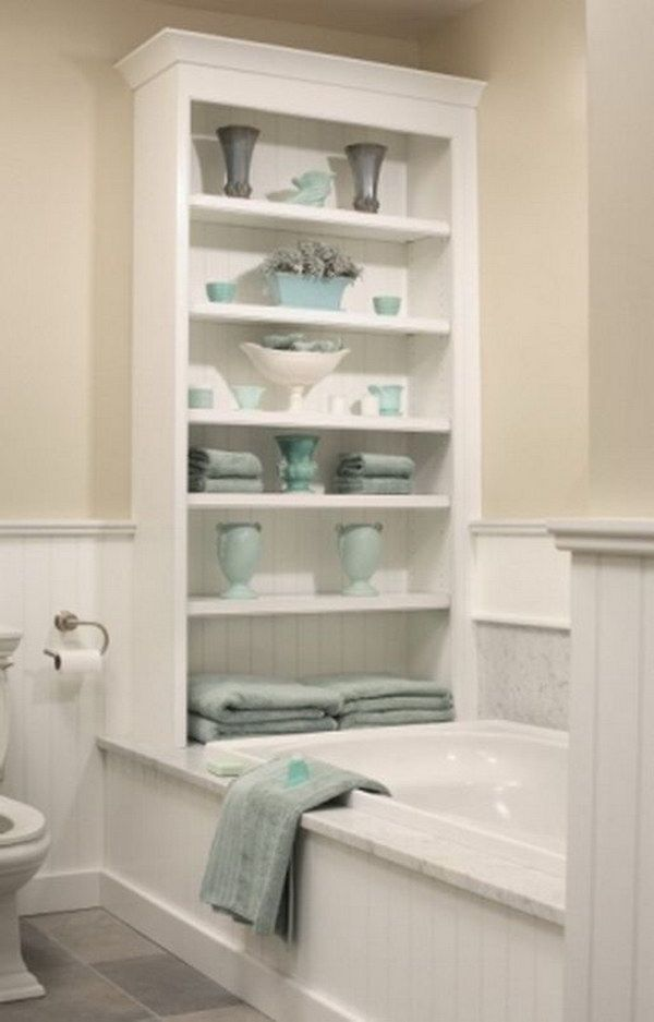 Best Bathtub Storage Ideas On Pinterest Bath Decor Clever - Turquoise bath towels for small bathroom ideas